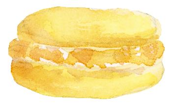 Digital Paperie - Yellow Macaron
