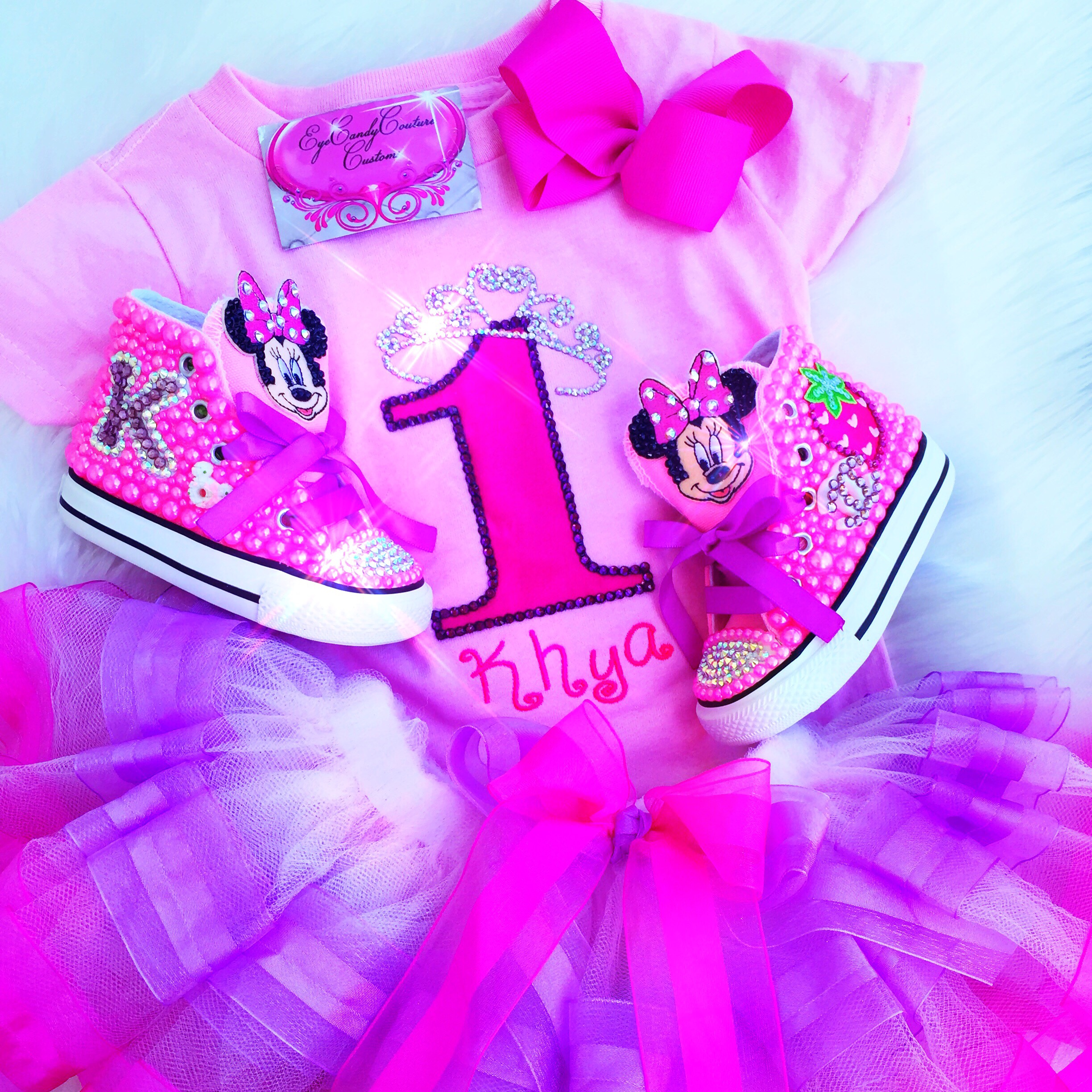 Minnie Mouse Bling Tutu Set Eyecandy Couture Bling