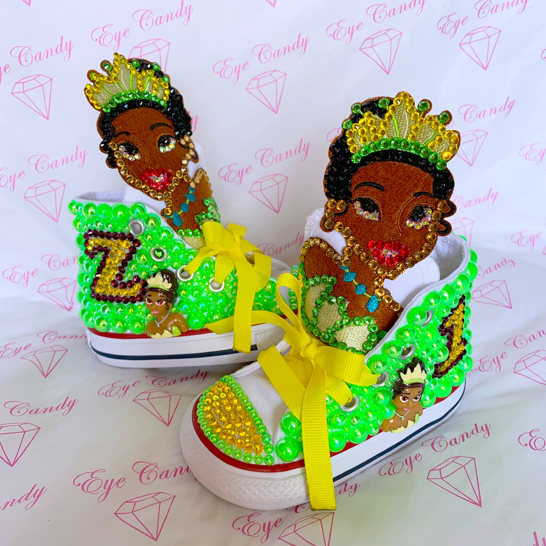 princess tiana shoecandy eyecandy couture bling apparel children s clothing clothing princess tiana shoecandy